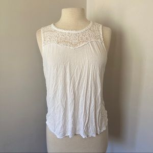 *2/15* Soft Lace Sleeveless Tank Top Shirt